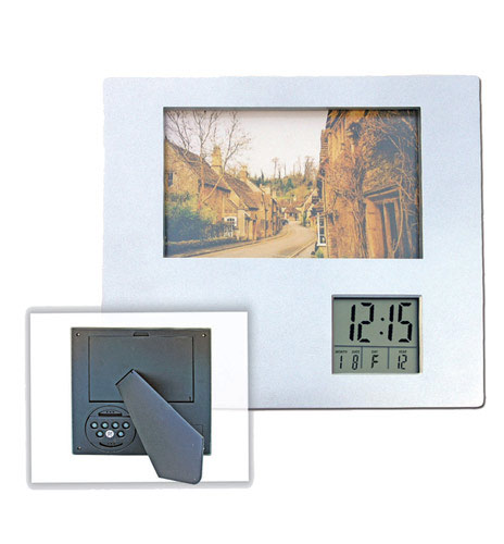 Photo Frame with Clock (PF758)