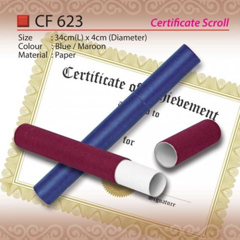 certificate scroll CF623