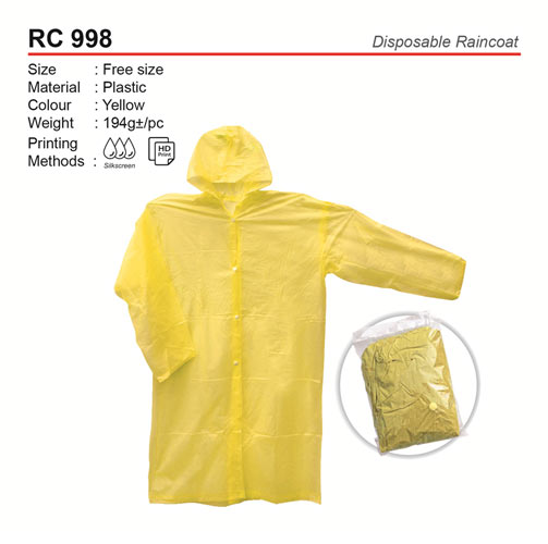 Disposable Raincoat (RC998)