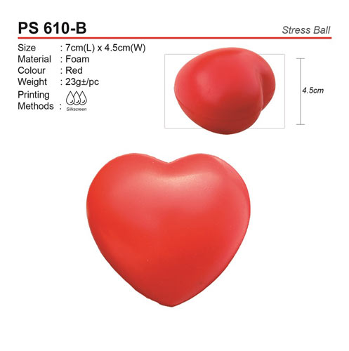 Love Shape Stress Ball (PS610-B)