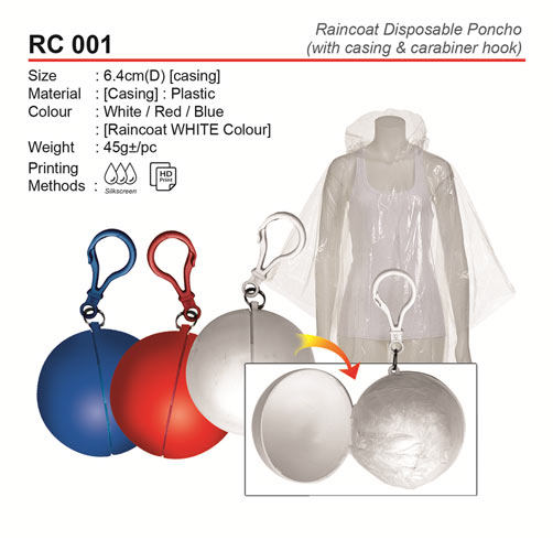 Raincoat Disposable Poncho (RC001)