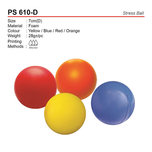 Round Shaped Stress Ball (PS610-D)