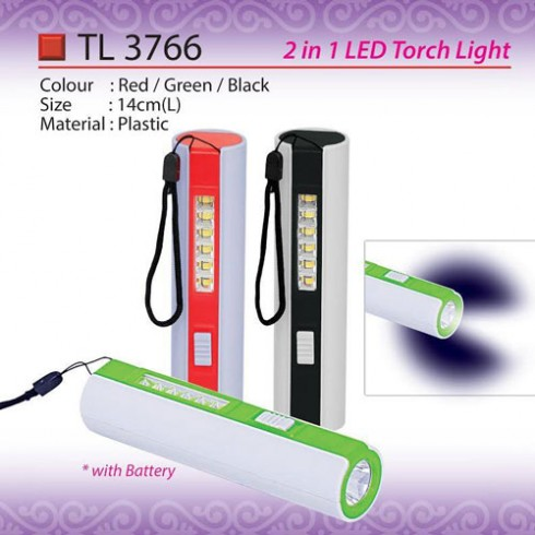 2 in 1 LED torchlight TL3766