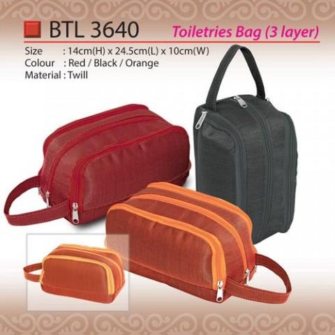 3 Layer Toiletries Bag (BTL3640)