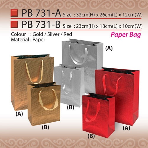 a89803e2ad4e Metallic Paper Bag (PB731)