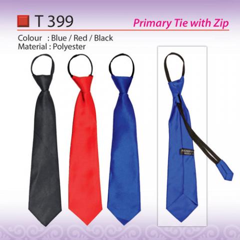 School Tie with Zip (T399)