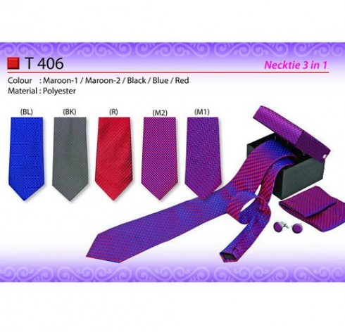 3 in 1 Necktie with box (T406)