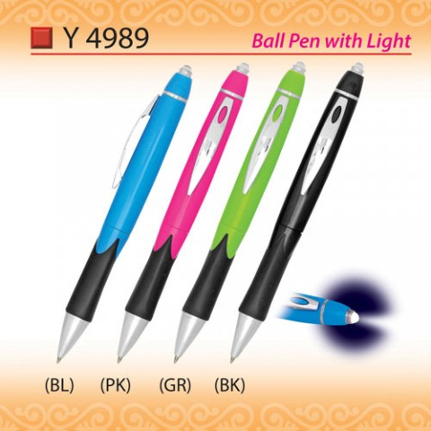 Ballpen with Light (Y4989)