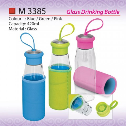 Glass Drinking Bottle (M3385)