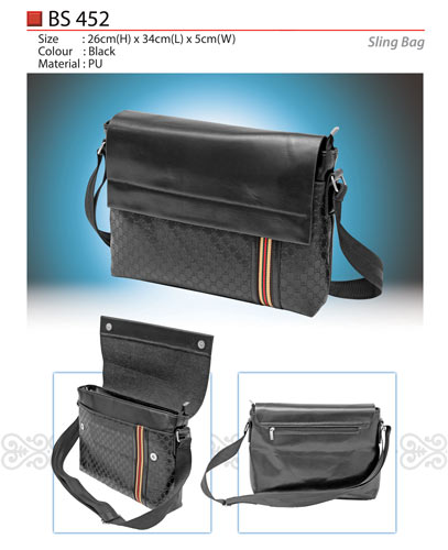 PU Leather Sling Bag (BS452)