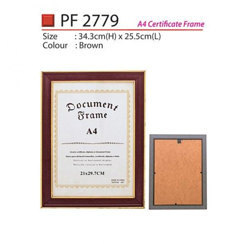 A4 Certificate Frame (PF2779)