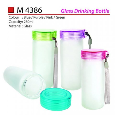 Glass Drinking Bottle (M4386)