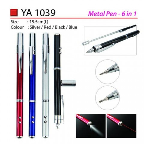 Metal Pen with LED & Pointer (YA1039)