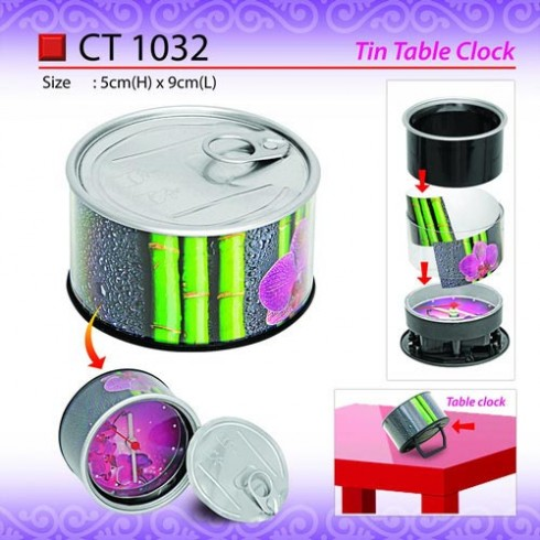 Tin Shape Table Clock (CT1032)