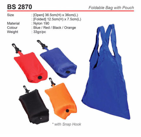 Foldable Bag with Pouch (BS2870)