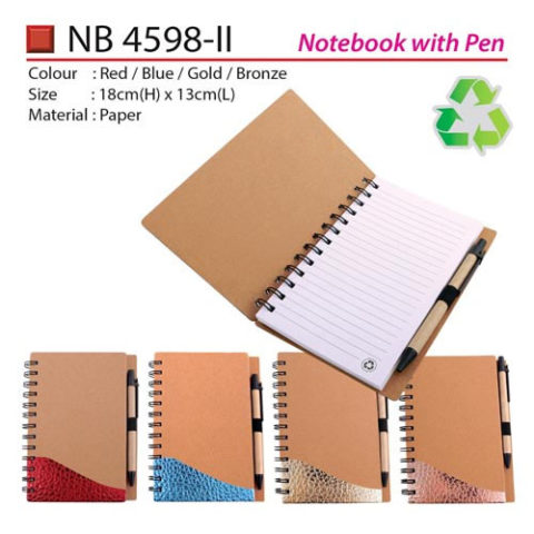 Unique Eco Notebook with pen (NB4598-II)