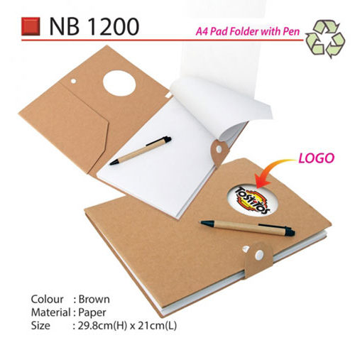 A4 Pad Folder with pen (NB1200)