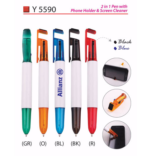 2 in 1 Plastic Pen (Y5590)