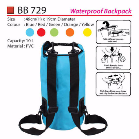 Medium Waterproof backpack (BB729)