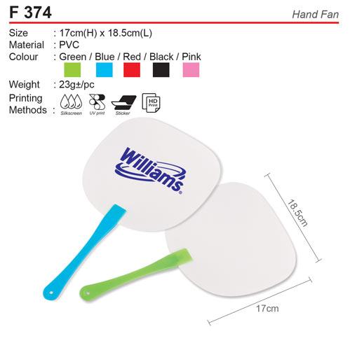 PVC Hand Fan (F374)