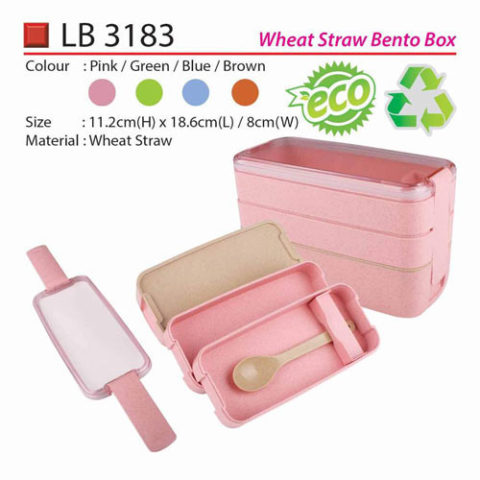 Wheat Straw Bento Box (LB3183)