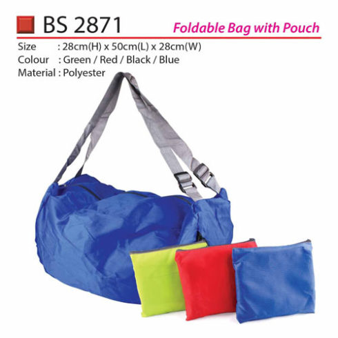 Foldable Bag with Pouch (BS2871)