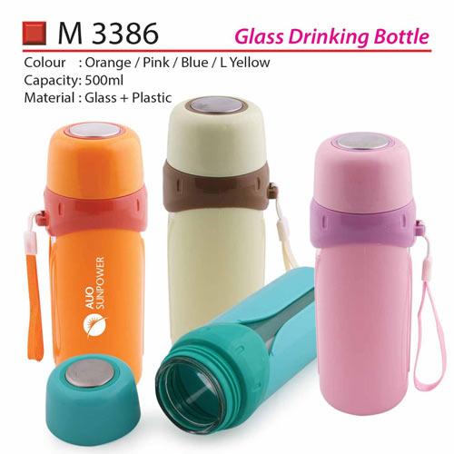 Glass Drinking Bottle (M3386)