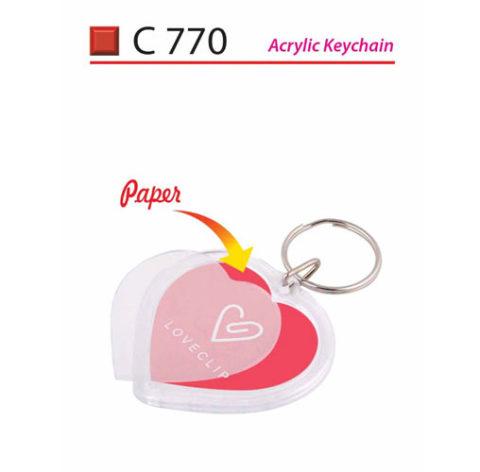 love Shape Plastic Keychain (C770)
