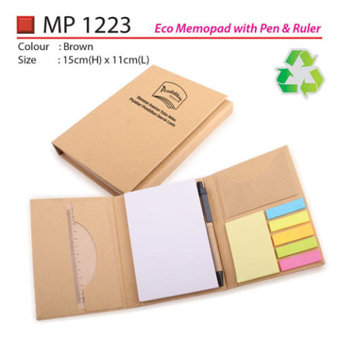 Eco Memopad with Pen & Ruler (MP1223)