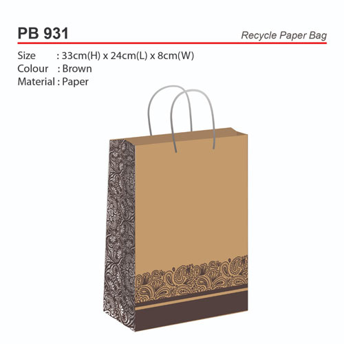 0db3b27ecfb5 Recycle Paper Bag (PB931)