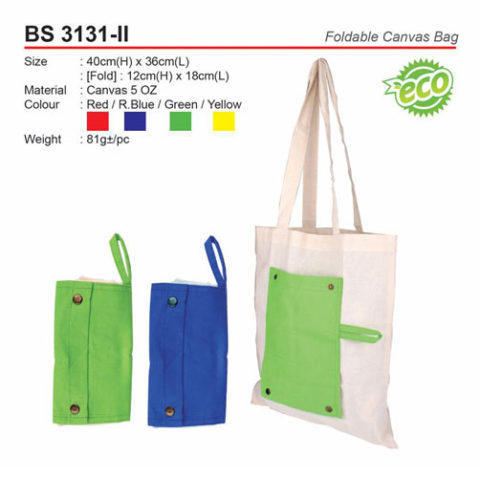 Foldable Canvas Bag (BS3131-II)