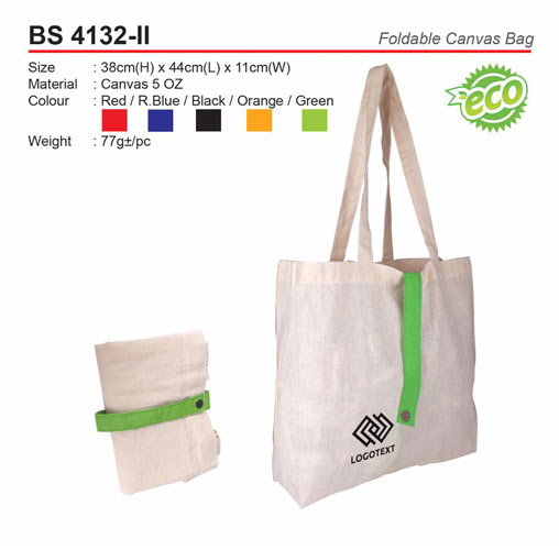 Foldable Canvas Bag (BS4132-II)