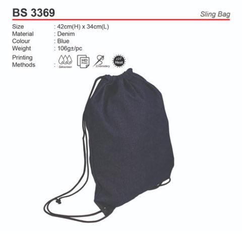 Denim Sling Bag (BS3369)
