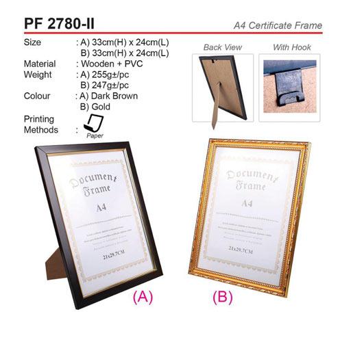 A4 Certificate Frame (PF2780-II)
