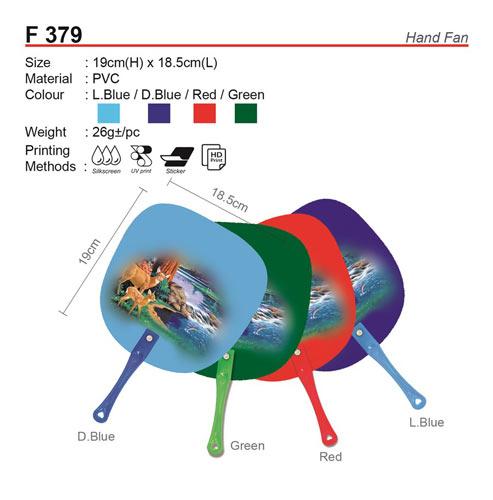 Plastic Hand Fan (F379)