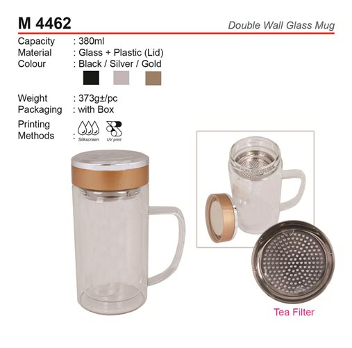 Double Wall Glass Mug (M4462)
