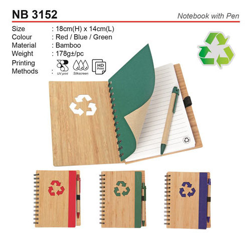 Eco notepad with Pen (NB3152)