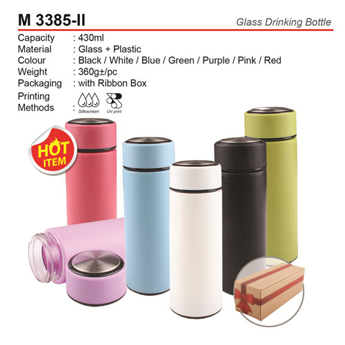 Glass Drinking Bottle (M3385-II)