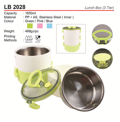 3 tiers Trendy Lunch Box (LB2028)