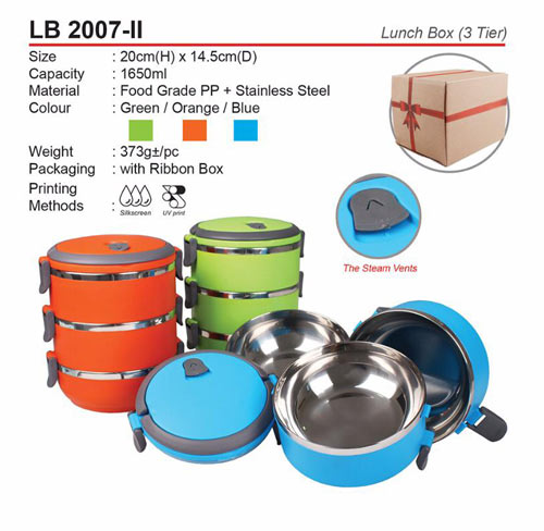 3 tier Lunch Box (LB2007-II)