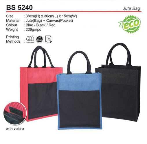 Jute Bag with Pocket (BS5240)
